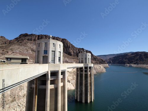 Nevada-side penstock towers of the Hoover Dam