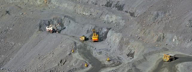 open-cast mine of iron ore