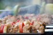 meat and vegetables kebab