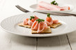 Cracker con Prosciutto cotto