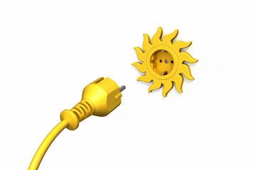 Stecker Steckdose Sonne Solarstrom
