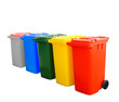 Colorful Recycle Bins