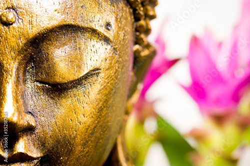 Tuinposter Standbeeld Buddha