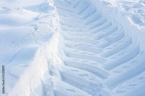canvas print picture trace snow