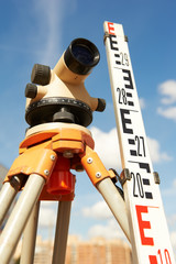 surveyor equipment outdoors