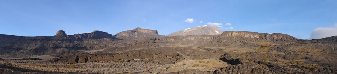 Panorama sur le Kilimanjaro (depuis Moir Hut)