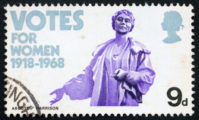 Postage stamp GREAT BRITAIN 1968 Emmeline Pankhurst statue