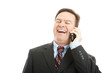 Businessman Laughing on Phone Call