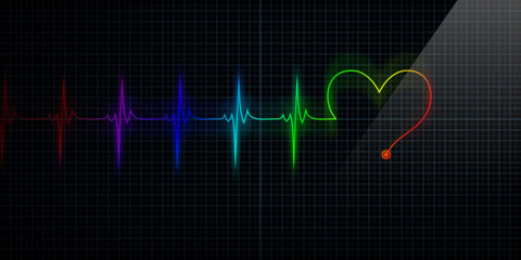 Colorful Heart Shape Monitor