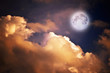 magic moon over the clouds