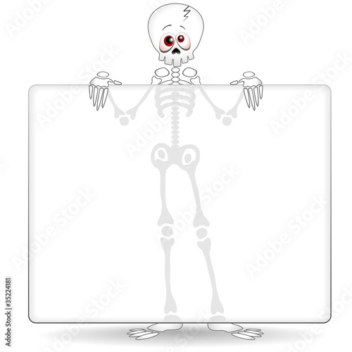Scheletro Cartoon Pannello-Funny Skeleton Background-Vector