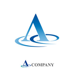 Logo initial letter A , water # Vector