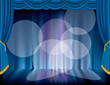 six spot blue stage