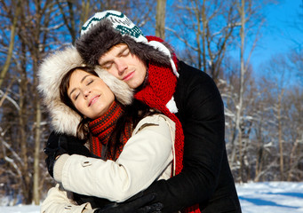 couple winter love