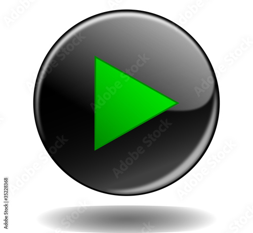 PLAY Web Button (key video media player icon watch live music)