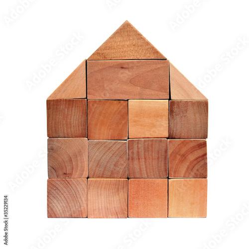 Holzklötze Haus