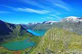 Picturesque Norway mountain landscape. Jotunheimen National Park