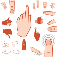 hand and finger icon