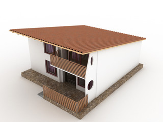 The house with sloping roof №4