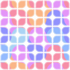 Vector colorful seamless lattice pattern