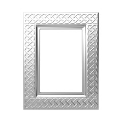 decorative silver photo frame
