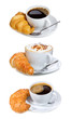 set with coffee and croissant