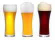 glasses with beer