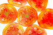 Pieces of sliced tomato