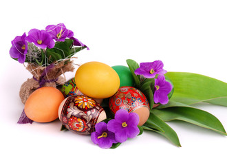 Easter Eggs and flowers
