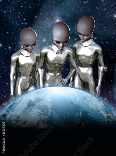 grey aliens and earth