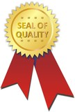 étiquette seal of quality