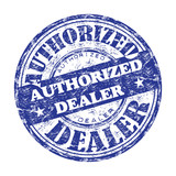 Authorized dealer rubber stamp poster