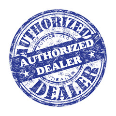 Authorized dealer rubber stamp