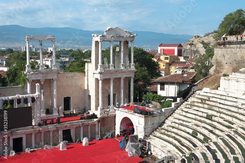 Roman Amphitheater In Plovdiv, Bulgaria
