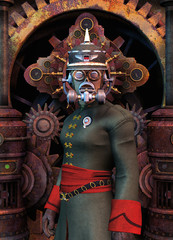 steampunk general military