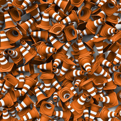 Traffic cones background