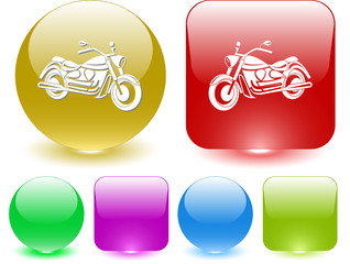 Motorcycle. Vector interface element.