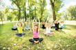 yoga exercise in park