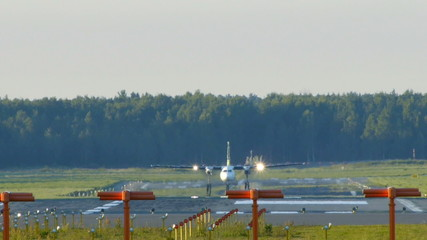 Aircraft take off (Fokker F50)