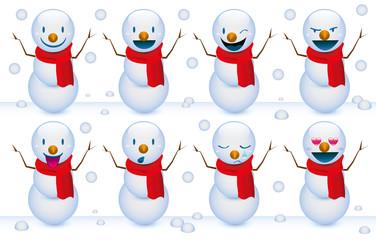 Pupazzi di neve smile