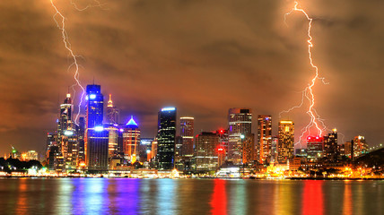 Storm in the city (Sydney)