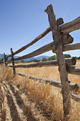 Old Wooden Fence in the American West