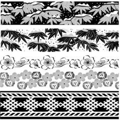 Oriental winter border
