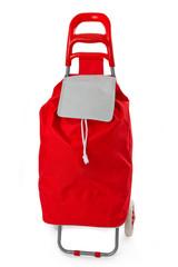 Roter Einkaufstrolley