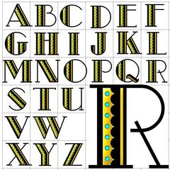 abc alphabet background metro retro design