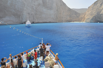 Coming to Navagio Shipwreck
