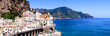 Panoramic photo of Atrani
