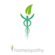 Logo homeopathy, alternative medicine # Vector