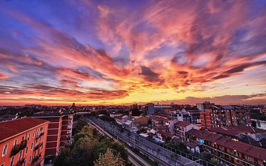 HDR Tramonto a Milano