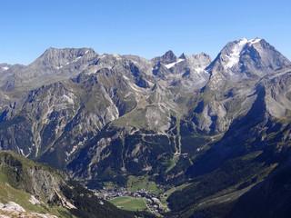 Grands sommets de la Vanoise au-dessus de Pralognan